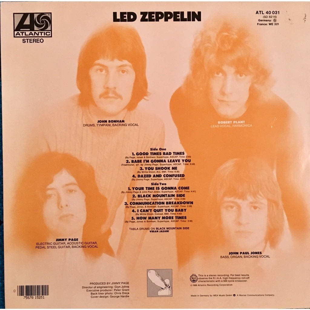 led zeppelin 1 by led zeppelin lp with puppahifi ref 119056307. Black Bedroom Furniture Sets. Home Design Ideas