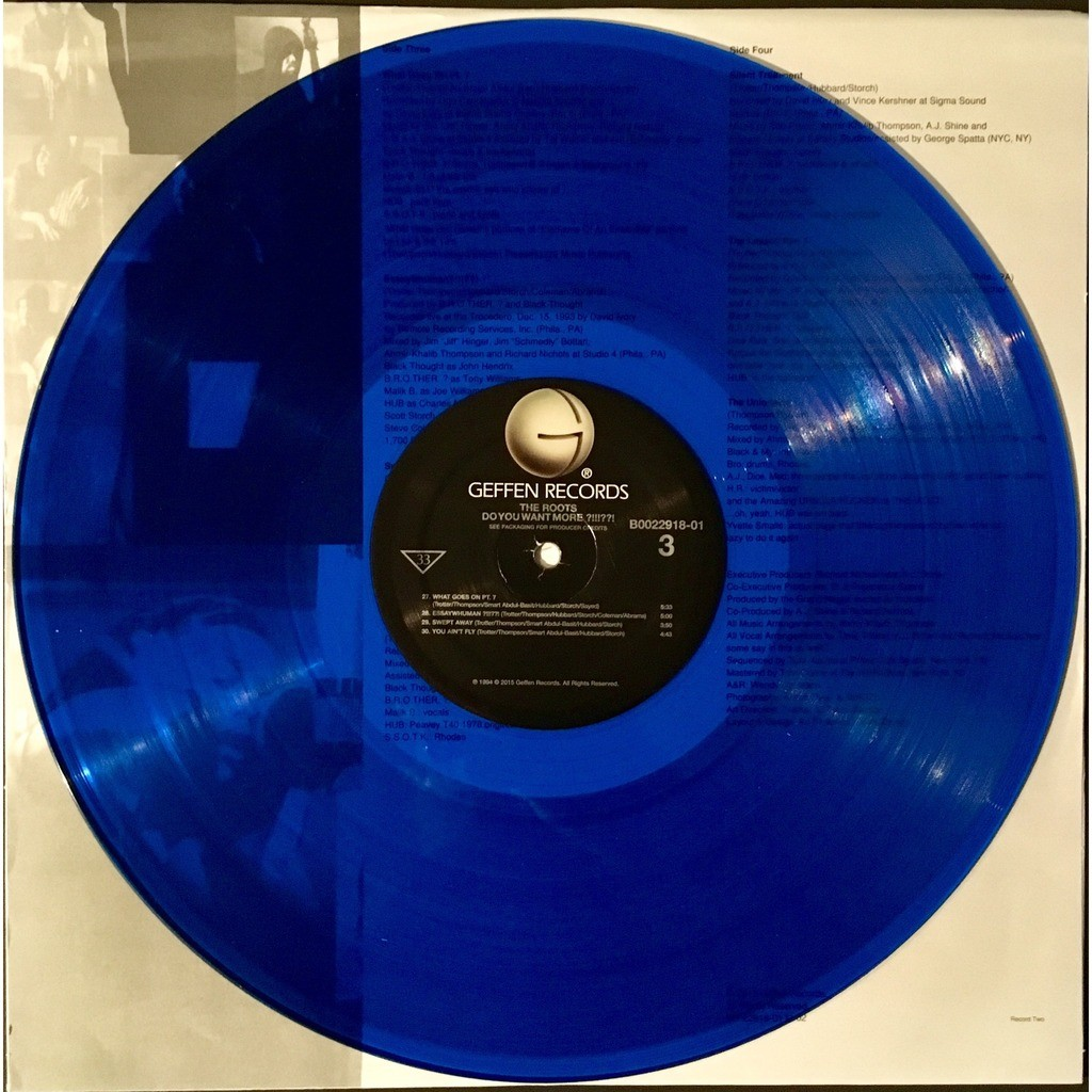 Do you want more ?!!!??! clear blue records by The Roots, LP 180-220 gr x 2  with puppahifi