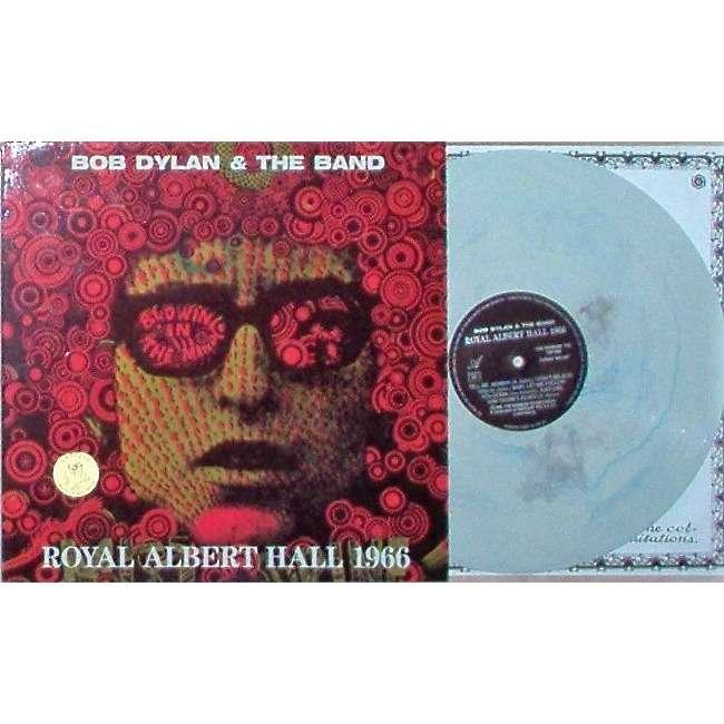Bob Dylan & the Band Royal Albert Hall 1966 (Swinging Pig lbl 1989 original live lp white-blu-grey wax deluxe ps)