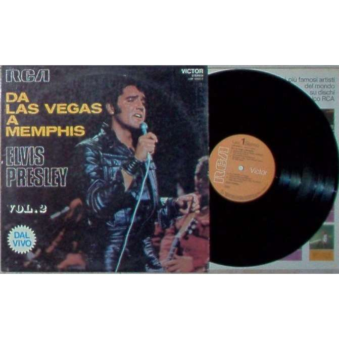 Elvis Presley Da Las Vegas A Memphis (Italian 1970 original 10-trk LP orange rca lbl laminated card ps)