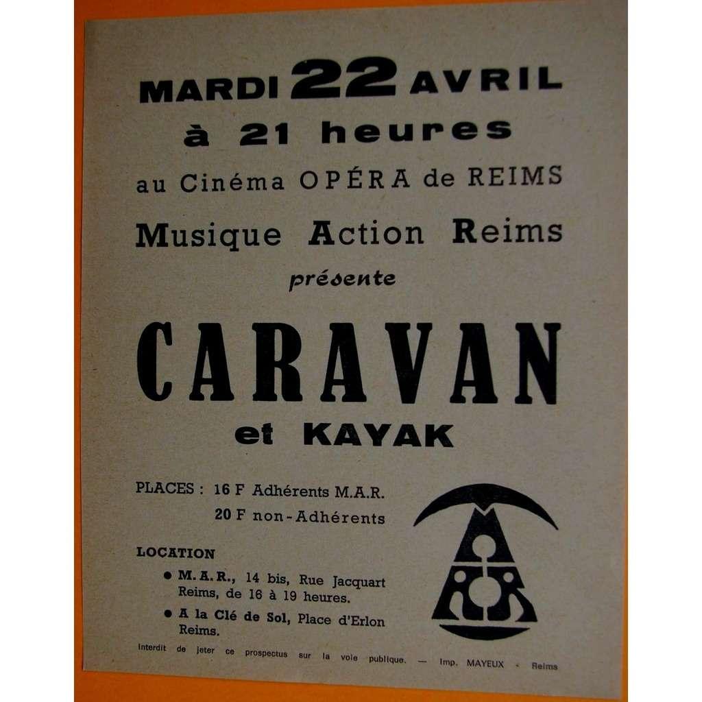 CARAVAN et KAYAK tract/flyer