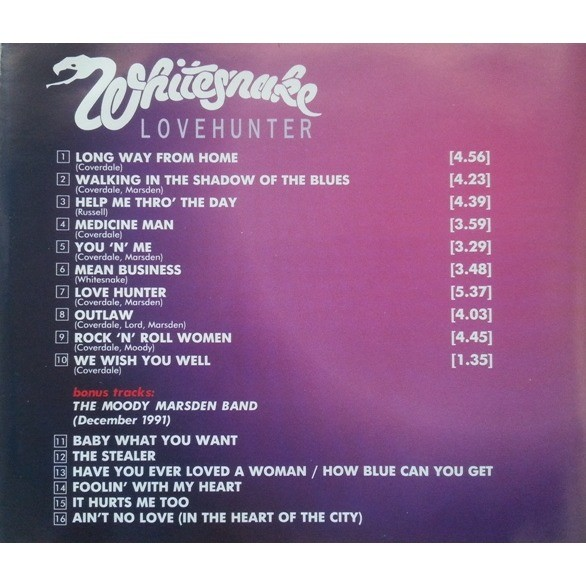 Lovehunter by Whitesnake, CD with dimotchka - Ref:119069072