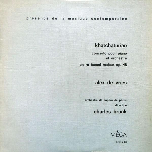 Alex de Vries Khatchaturian : Concerto pour piano