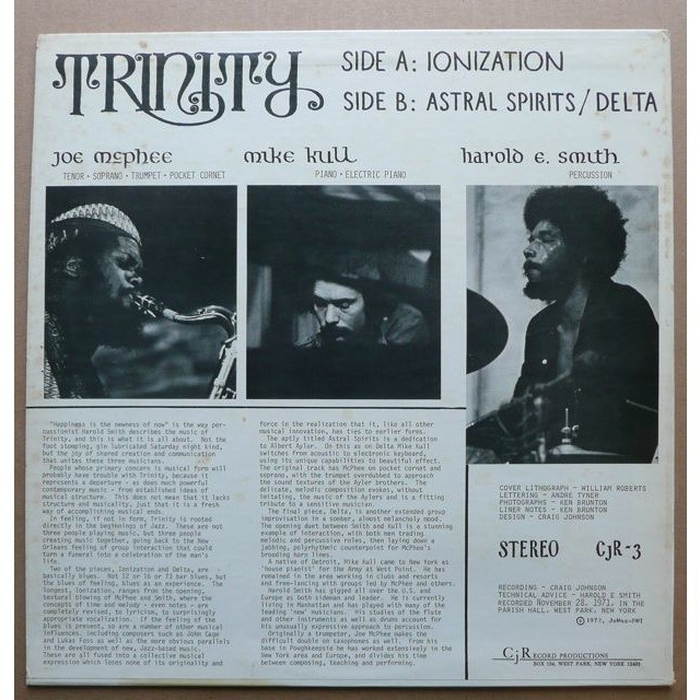 Harold E. Smith - Mike Kull - Joe McPhee ‎ Trinity