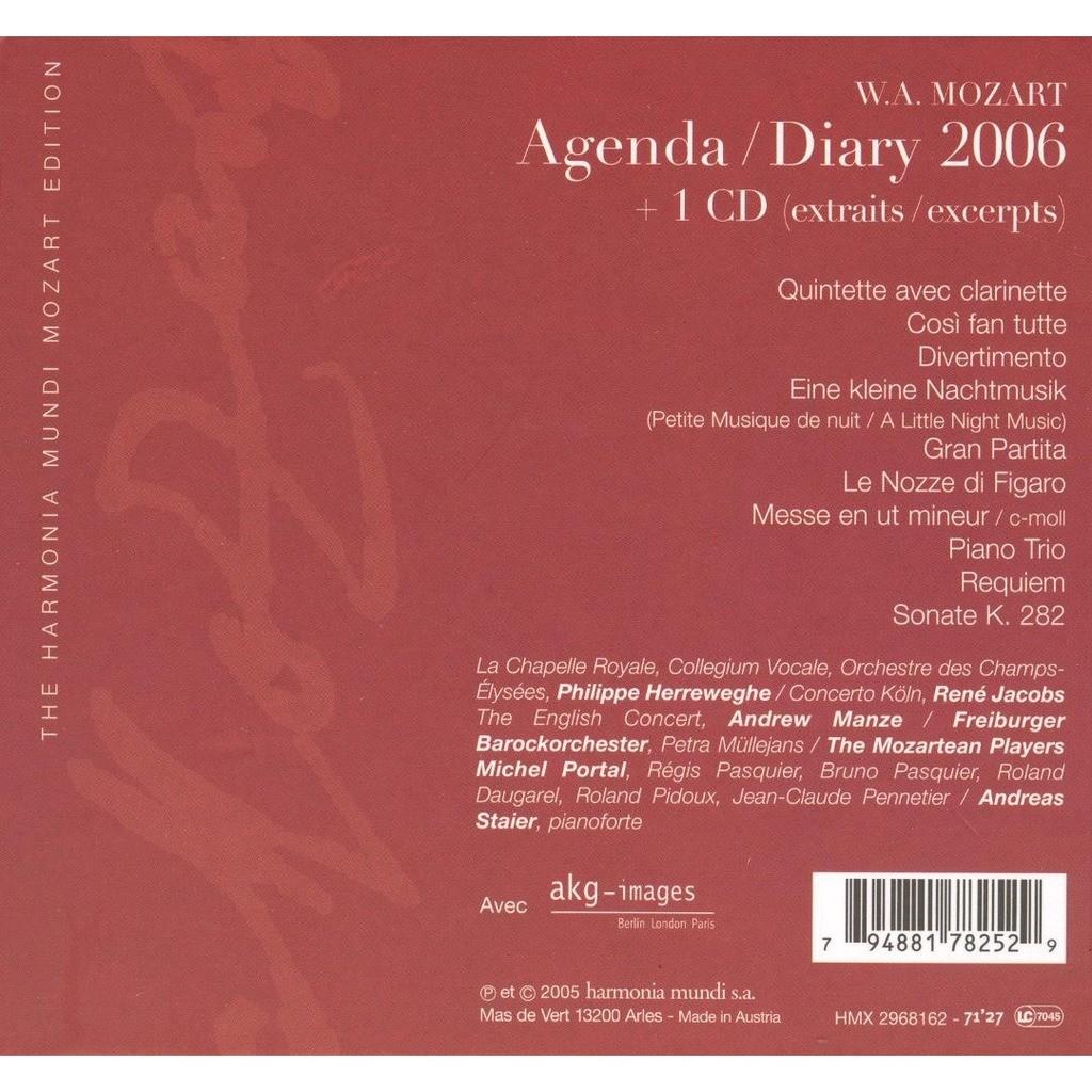 Mozart, Wolfgang Amadeus Mozart Diary 2006 [Book+CD] / Various Artists