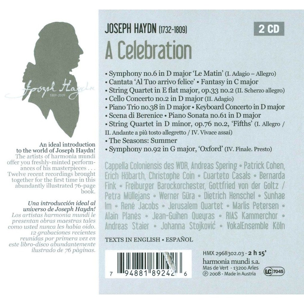 Haydn, Joseph A Haydn Celebration (1809-2009) / Various Artists [2-CD Book]