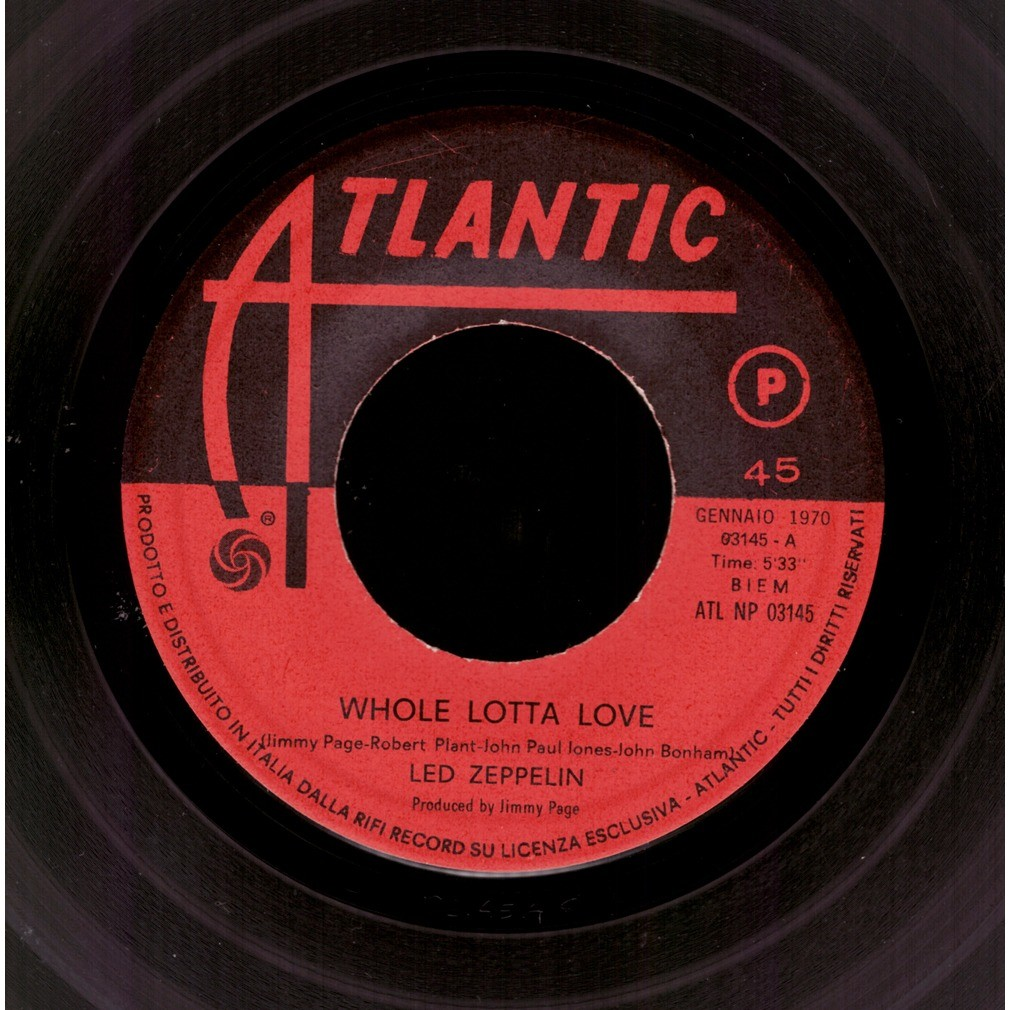 Led Zeppelin  Whole Lotta Love / Living Loving Maid (She's Just A Woman)