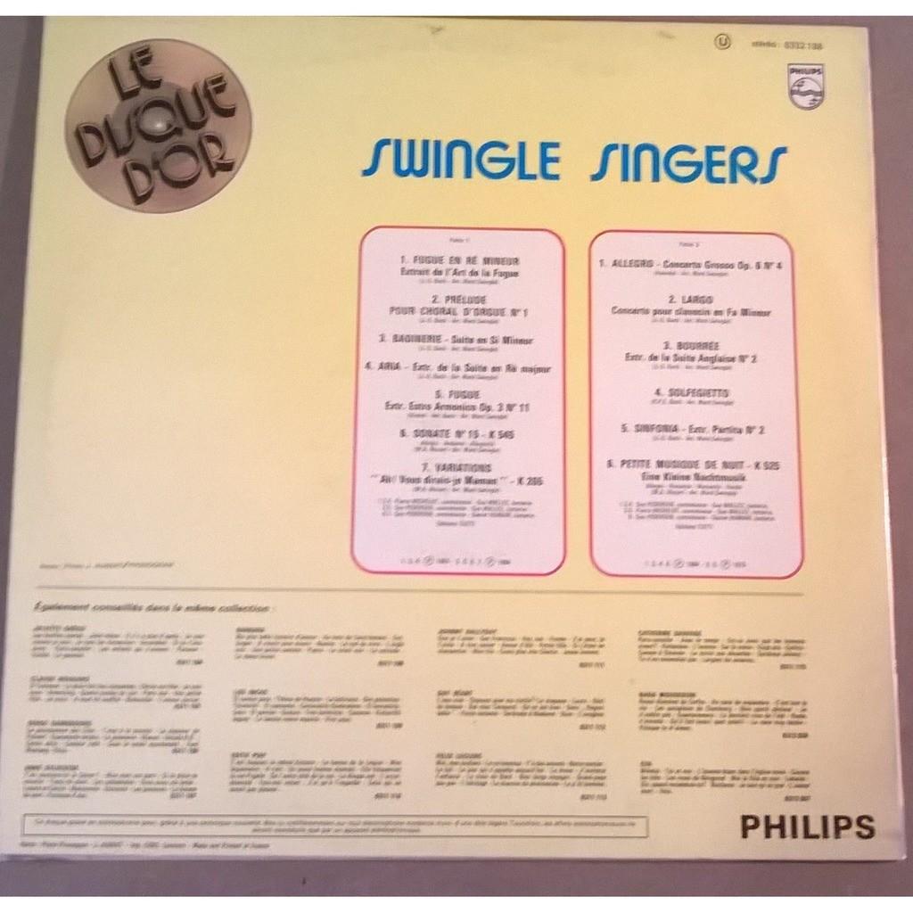 Swingle Singers Le Disque D'Or
