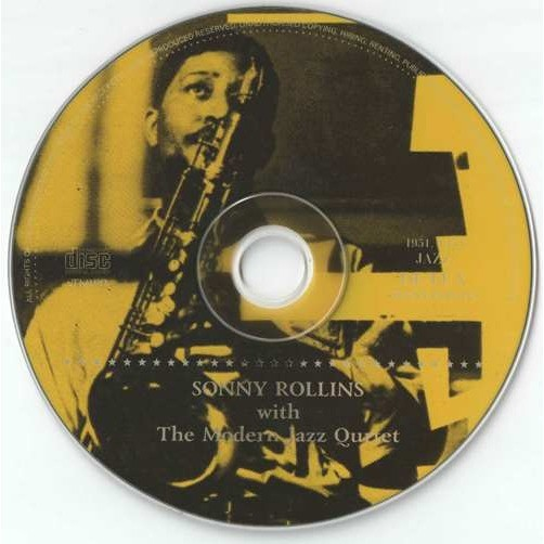 sonny rollins Sonny Rollins With The Modern Jazz Quartet