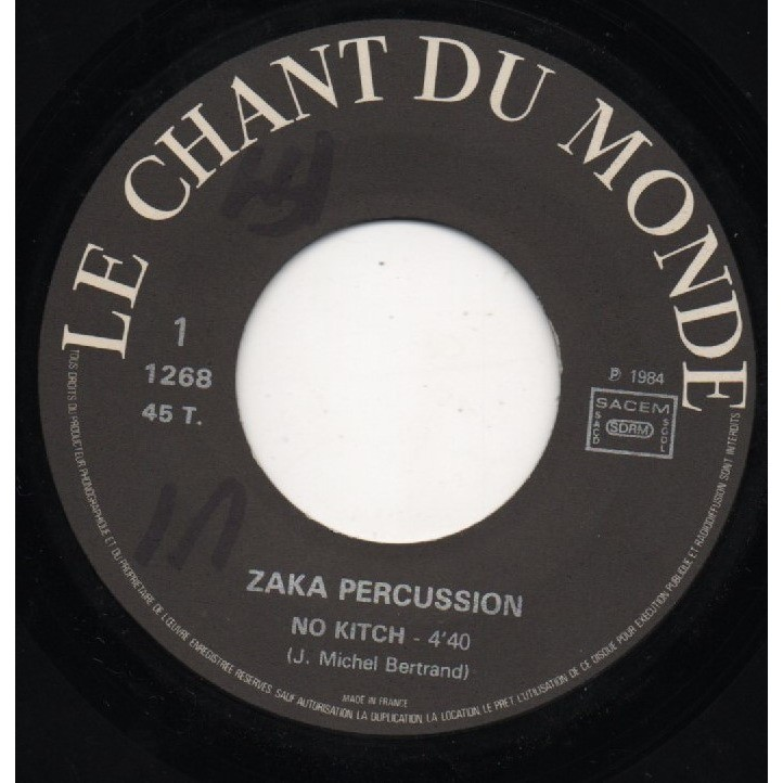ZAKA PERCUSSION no kitch