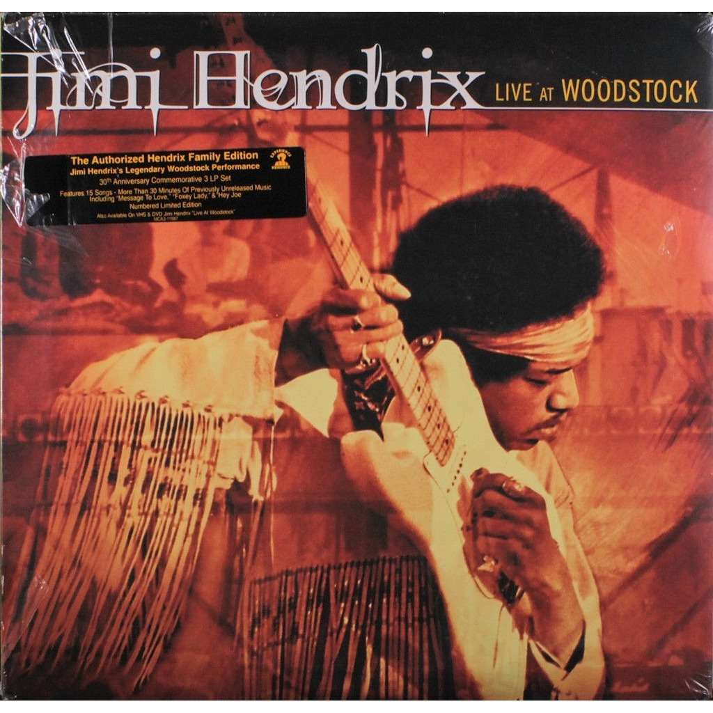 Jimi Hendrix Live At Woodstock (USA 1999 Ltd'Authorized Hendrix Family Edition' No'd 3LP gf ps-stickered&sealed)