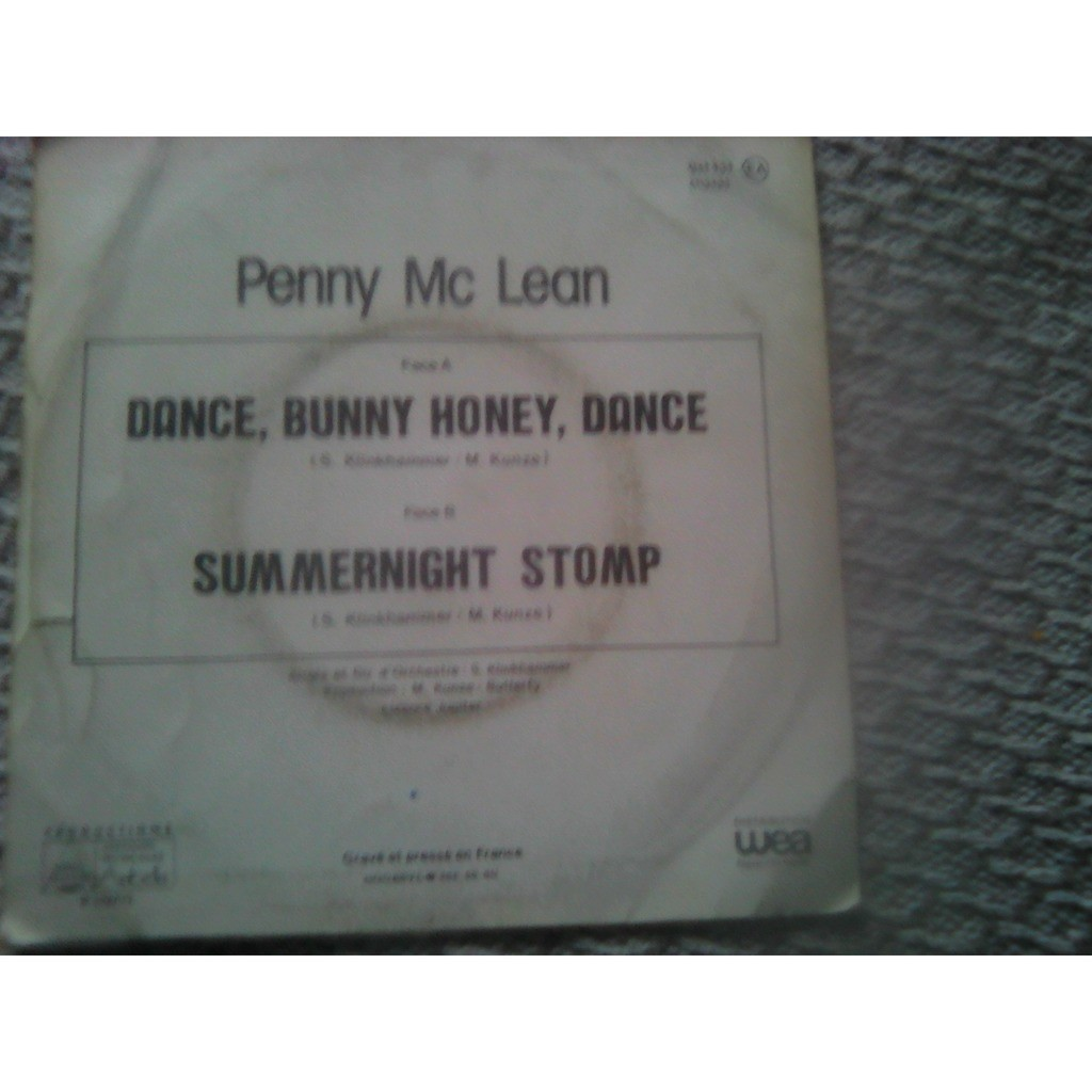 Penny McLean - Dance, Bunny Honey, Dance (7, Sing Penny McLean - Dance, Bunny Honey, Dance (7, Single)