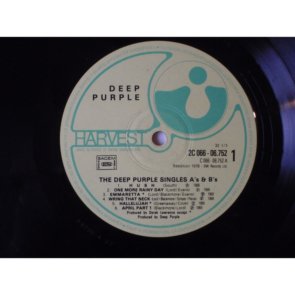 Deep Purple The Deep Purple Singles A's & B's