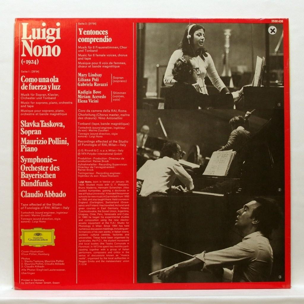 Maurizio Pollini / Slavka Taskova / Claudio Abbado Luigi Nono : Como una ola de fuerza y luz