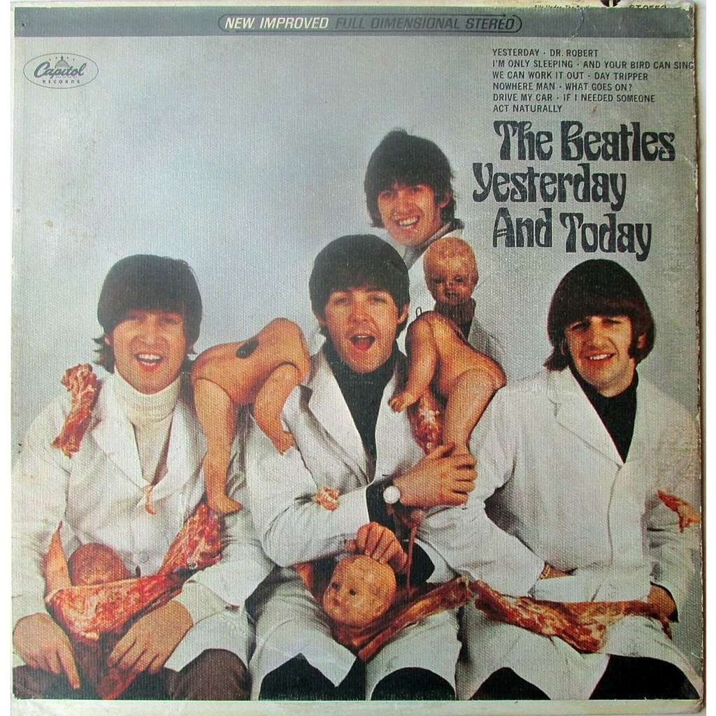 yesterday and today original butcher cover de the beatles 33t chez rockground ref 119074130. Black Bedroom Furniture Sets. Home Design Ideas