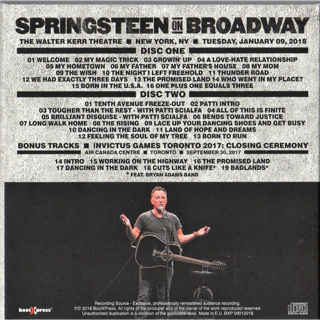 Springsteen On Broadway Walter Kerr Theatre New York 09