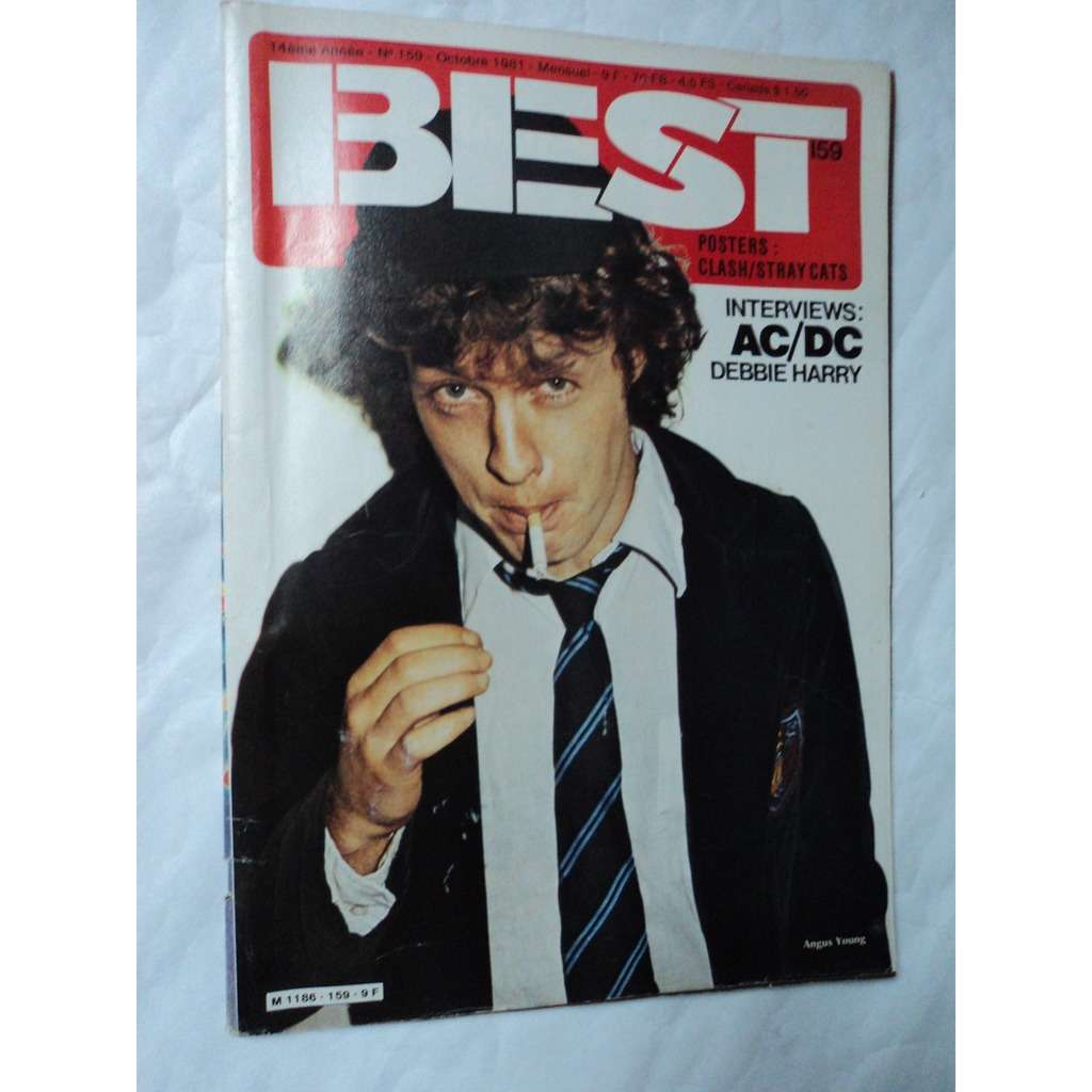 Best Magazine N°159 ACDC poster agrafé CLASH / STRAY CATS