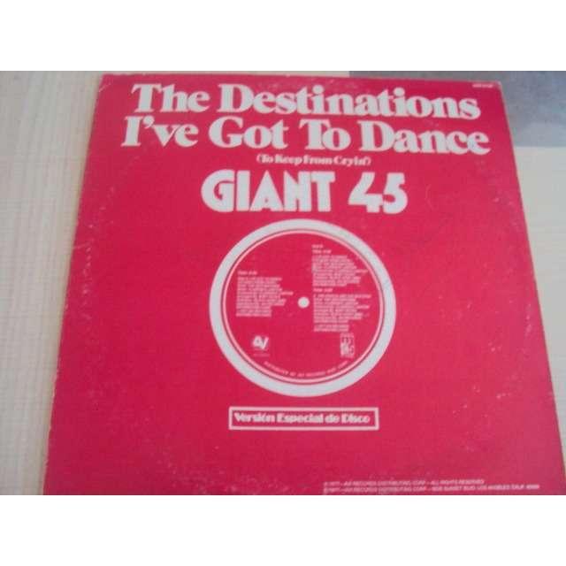 the destinations I've got to dance (Special 12' disco version) 1977 USA (MAXIBOXLP)