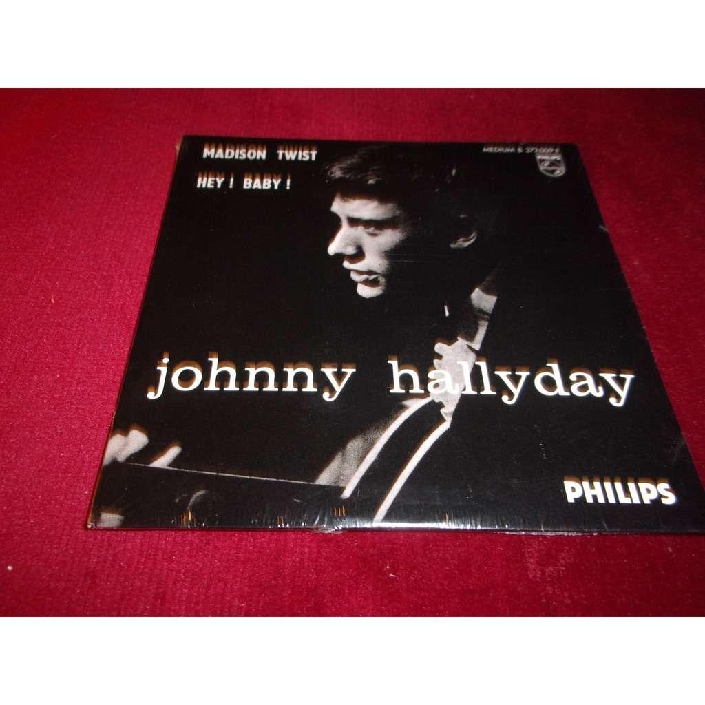 JOHNNY HALLYDAY MADISON TWIST / HEY ! BABY !.France