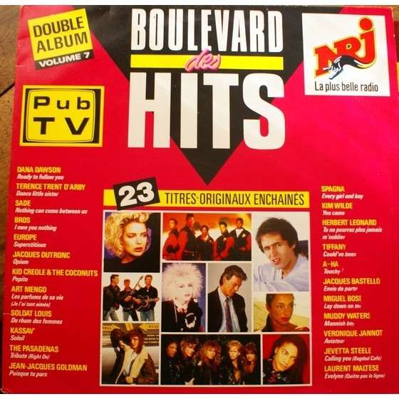 NJR goldman, sade, europe, kim wilde, bros... boulevard des hits volume 7