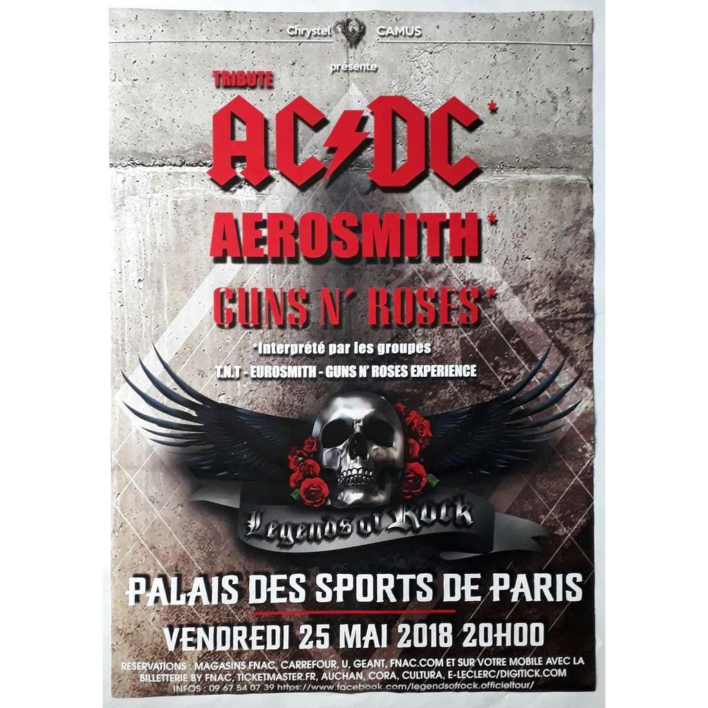 Affiche Concert legends of rock-limited édition affiche concert 25/5/2018 palais des
