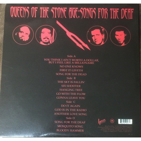 Queens of the Stone Age Songs For The Deaf Blue Vinyl Gatefold