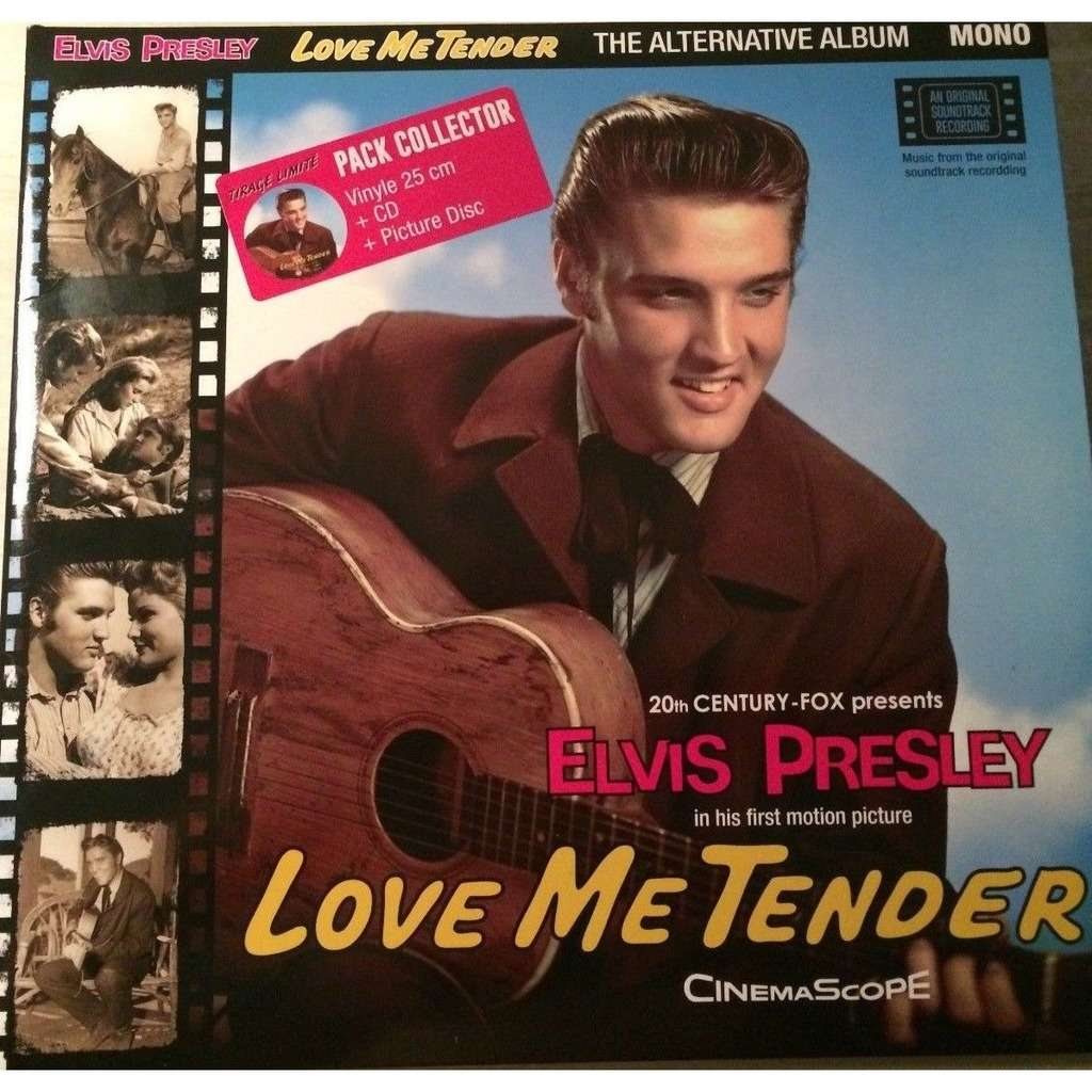 HVC MUSIC  BIG BEAT RECORDS : ELVIS PRESLEY LOVE ME TENDER - 10 inch box