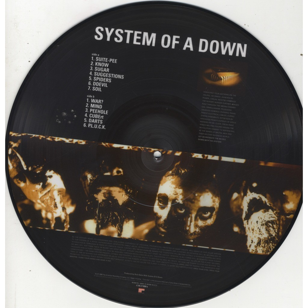 System Of A Down System Of A Down Picture Disc