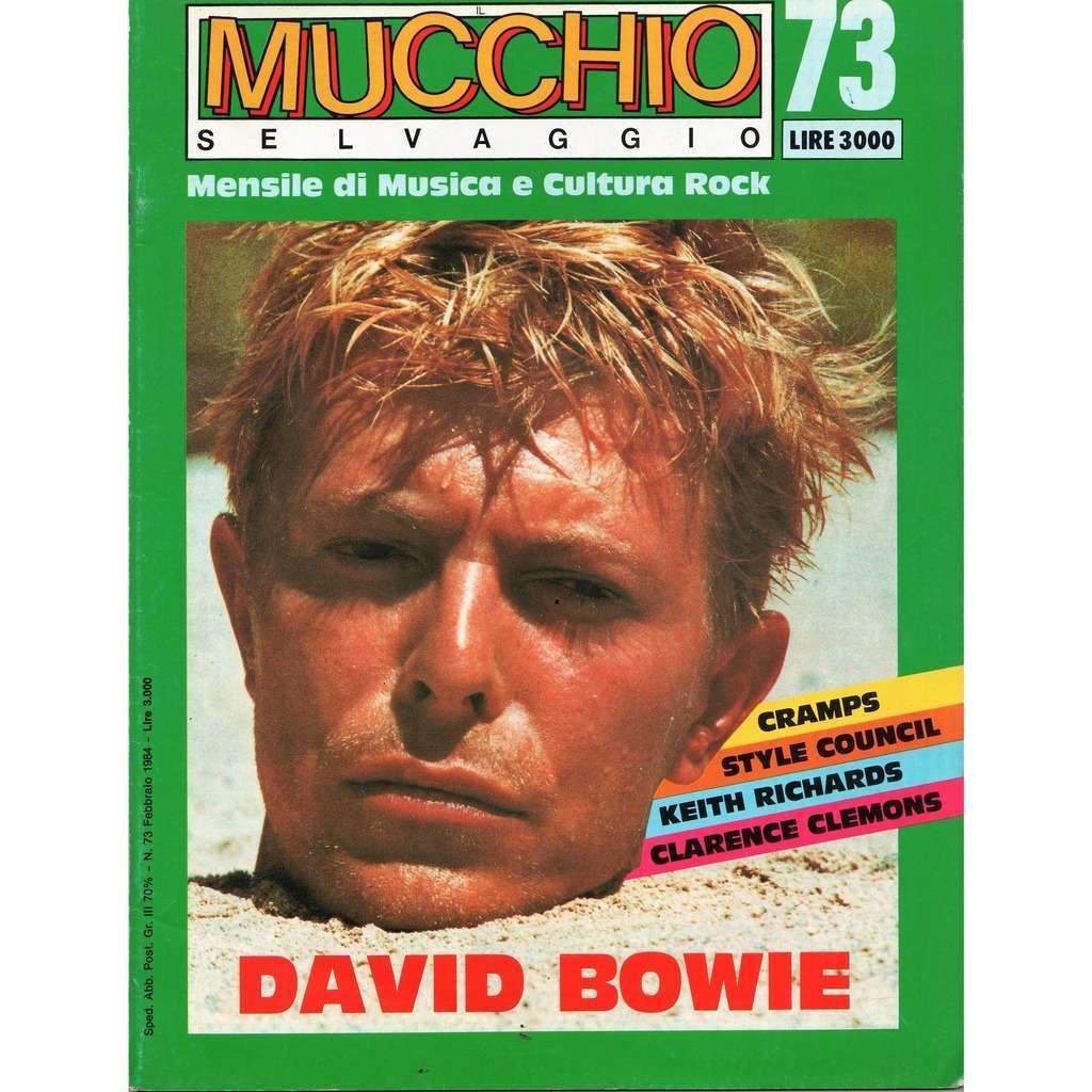 David Bowie Mucchio Selvaggio (n.73 Feb. 1984) (Italian 1984 David Bowie front cover music magazine)