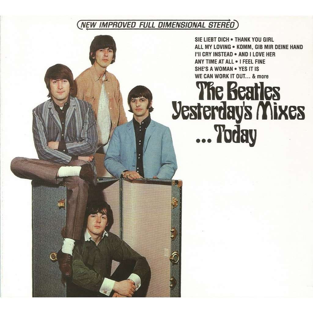 yesterday 39 s mixes today by the beatles cd with avefenixrecords ref 119080640. Black Bedroom Furniture Sets. Home Design Ideas