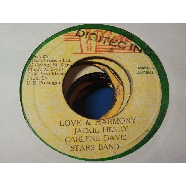 CARLENE DAVIS / JACKIE HENRY STAR BAND LOVE & HARMONY / HARMONY DUB ORIG.