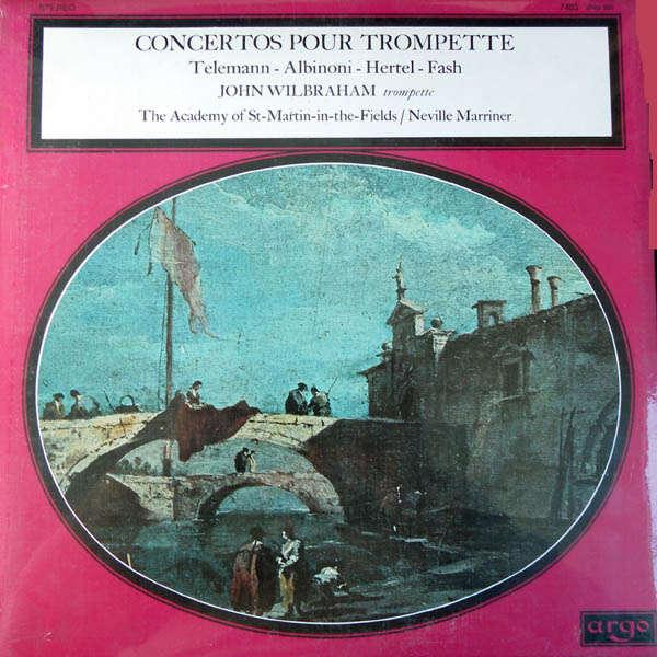 John Wilbraham, trompette Concertos pour trompette