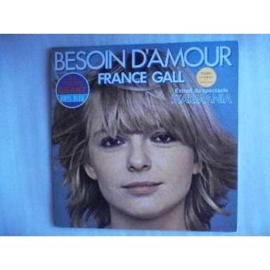 GALL FRANCE BESOIN D'AMOUR/MONOPOLIS - VINYL BLEU - 1979