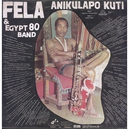 Fela Kuti & Egypt 80 Original suffer head / Power show