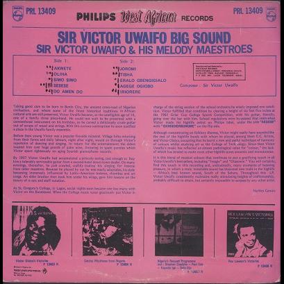 Sir Victor Uwaifo & His Melody Maestroes Big sound