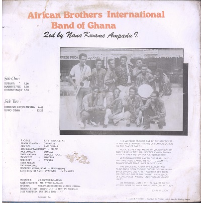 African Brothers International Band of Ghana Susana