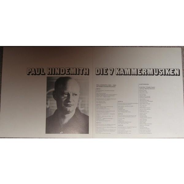 Paul Hindemith Ensemble 13 Baden-Baden M. Reichert Die 7 Kammermusiken