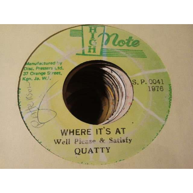 QUATTY / WELL PLEASE & SATISFIED WHERE IT'S AT / CHAT VERSION ORIG.