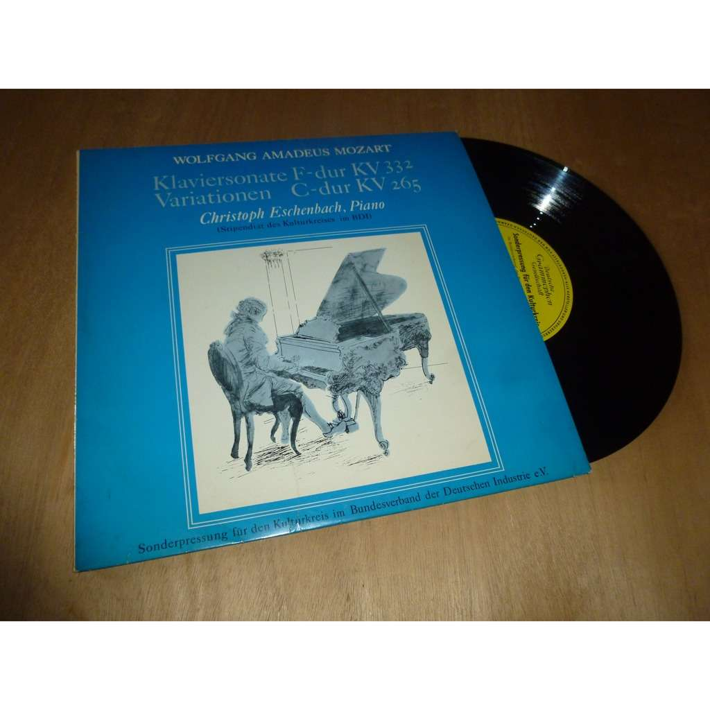CHRISTOPH ESCHENBACH / MOZART mozart : klaviersonate F-dur KV 332 - variationen C-dur KV 265
