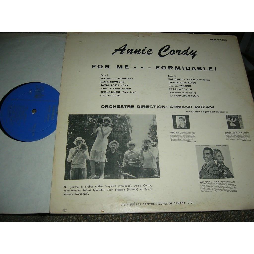 annie cordy For me ...formidable pressage canadien