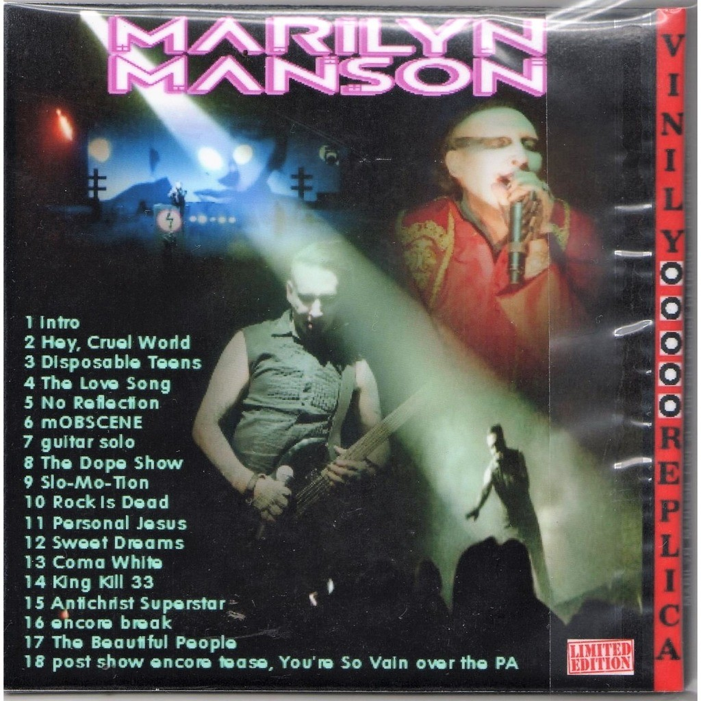 Live at 'fillmore detroit' (detroit usa 22 01 2013) by Marilyn Manson, CD  with gmvrecords