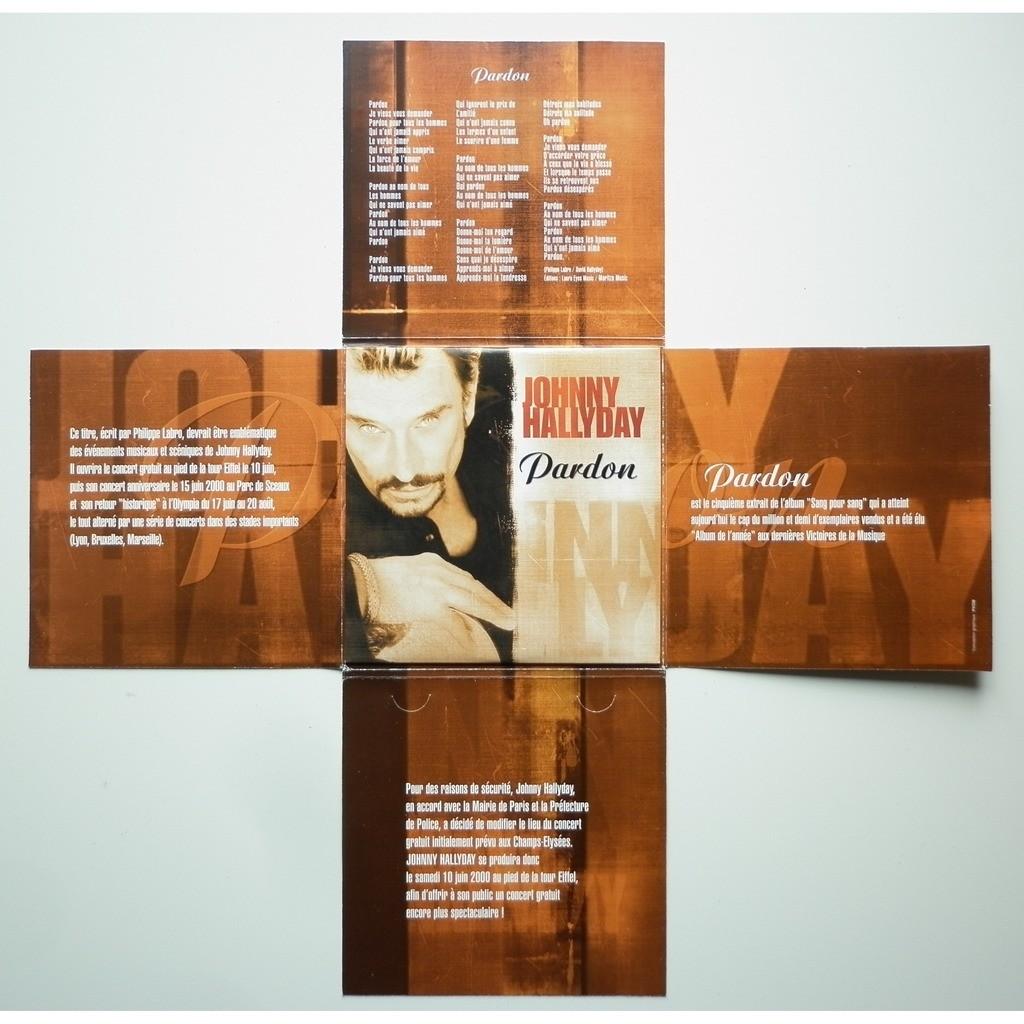Johnny Hallyday Pardon format en croix