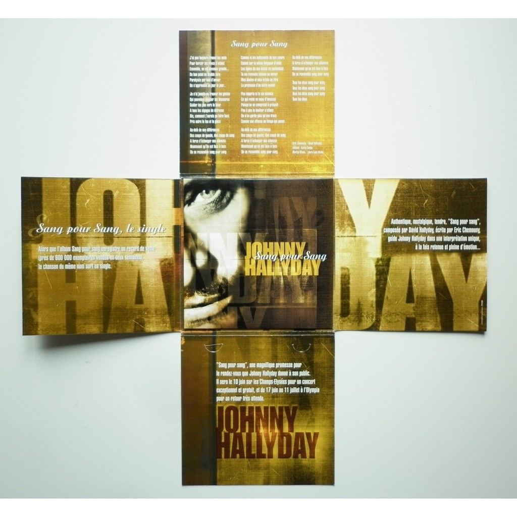 Johnny Hallyday Sang Pour Sang format en croix