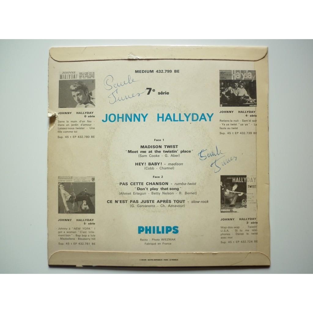 Johnny Hallyday Madison Twist / Pas Cette Chanson titres rouge