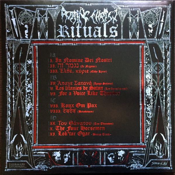Rotting Christ Rituals (2xlps) Ltd Edit Gatefold Sleeve -Fr