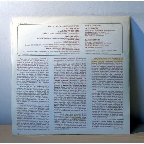 MARCEL DEBOT & RAYMOND MICHA RAYMOND & OCTAVE MICHA Oeuvres instrumentales et mélodies