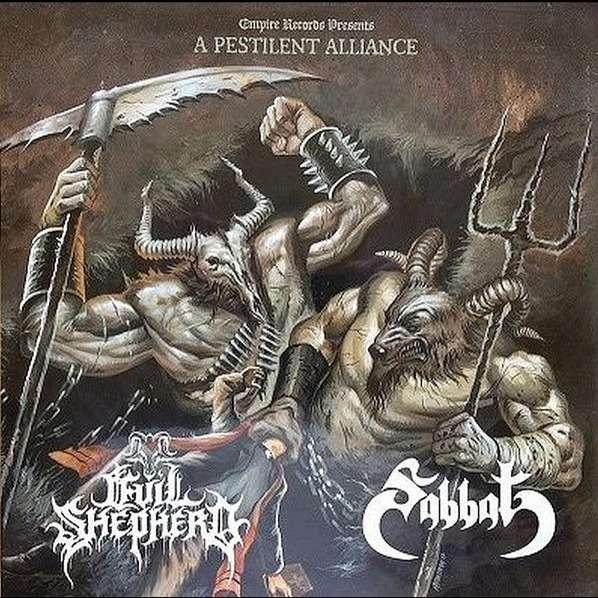 SABBAT / EVIL SHEPHERD A Pestilent Alliance. White Vinyl