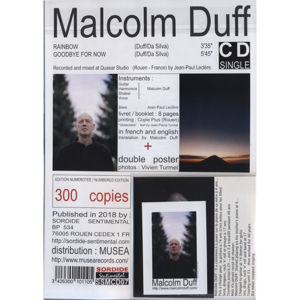 MALCOLM DUFF Rainbow / Goodbye For Now