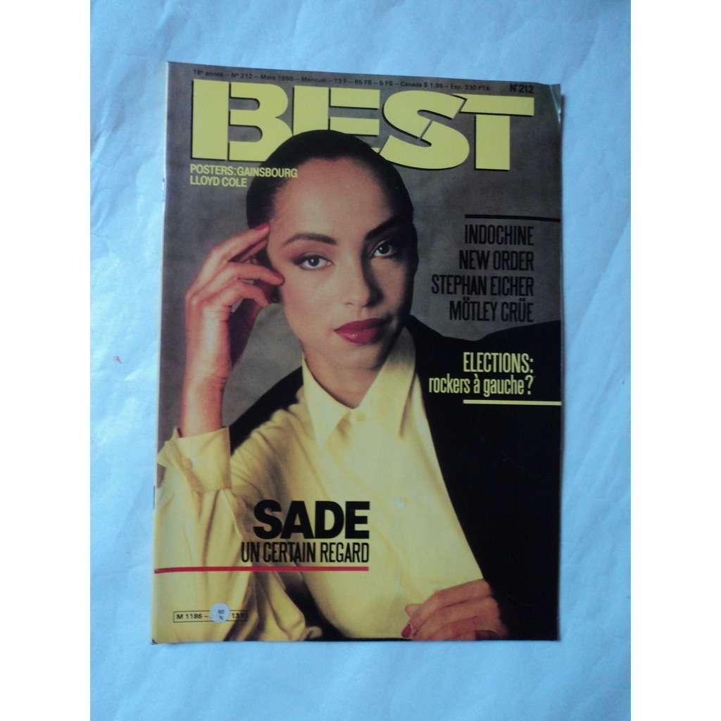 Best Magazine 212 Best Magazine No 212 poster GAINSBOURG / L COLE toujours agrafé agrafé