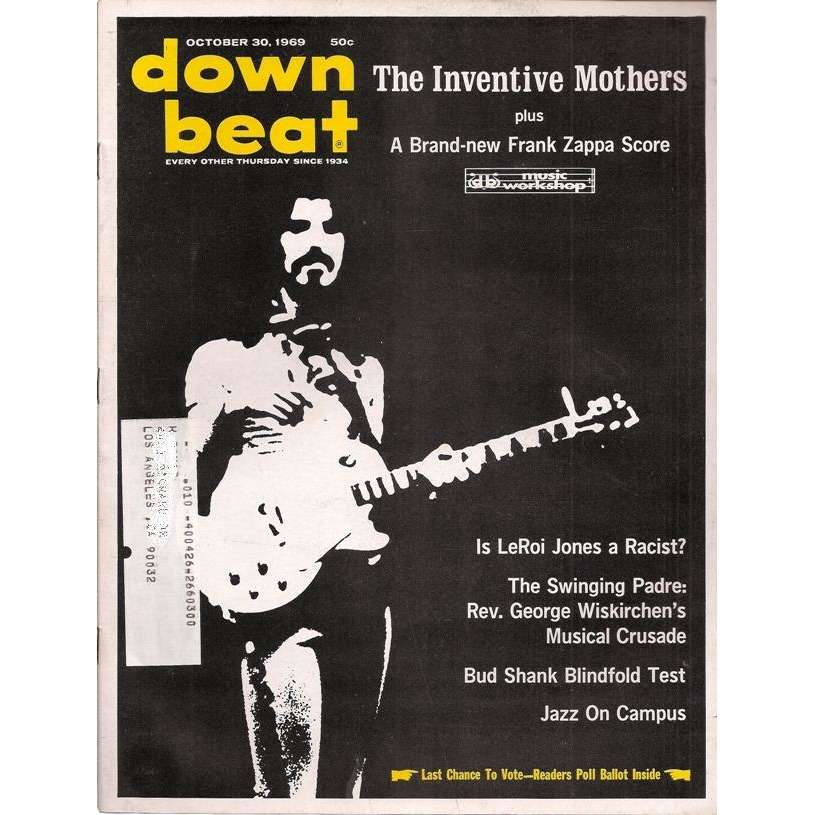 down beat 30 10 1969 usa 1969 zappa ront cover music magazine